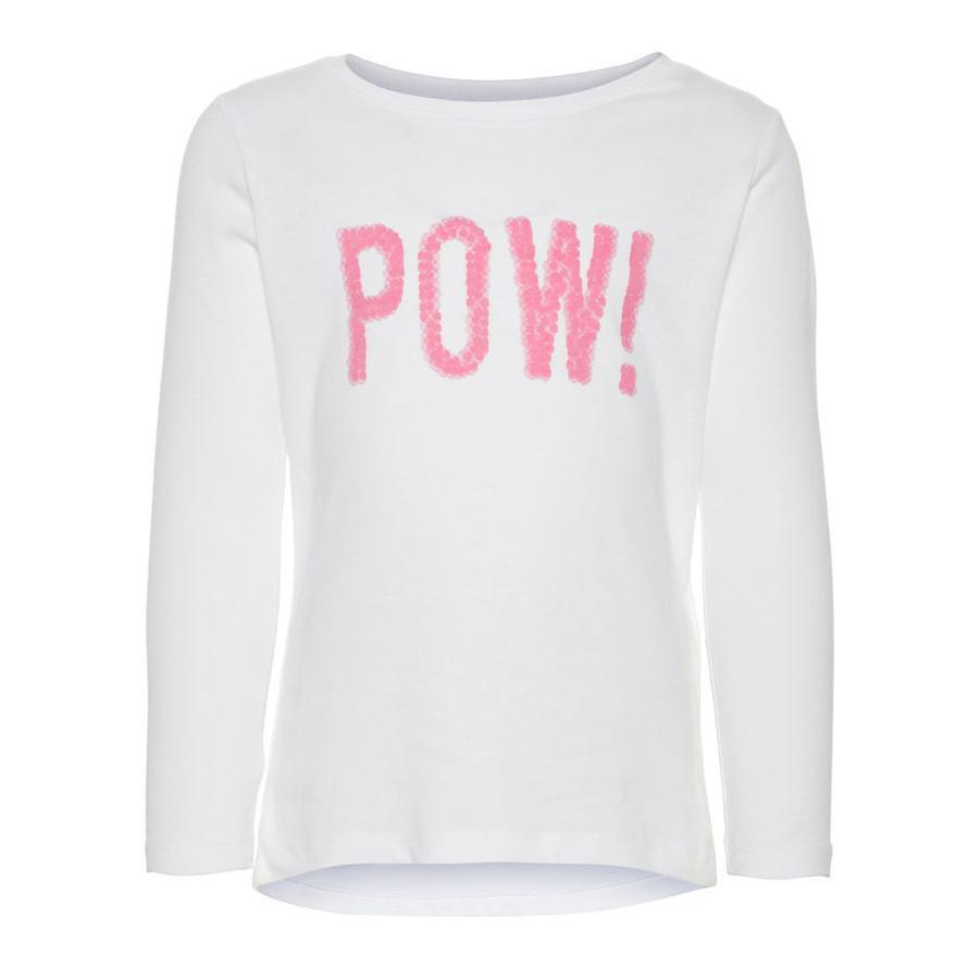 name it Tyttöjen pitkähihainen paita Nmfveen b right white