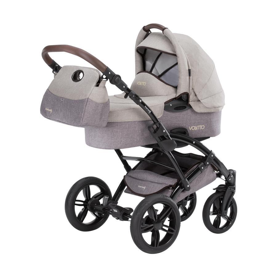 knorr-baby Wózek dziecięcy Voletto Happy Colour beżowy-brązowy