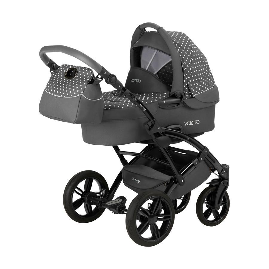 Knorr-Baby Kombikinderwagen Voletto 3in1 Tupfen grau-weiß
