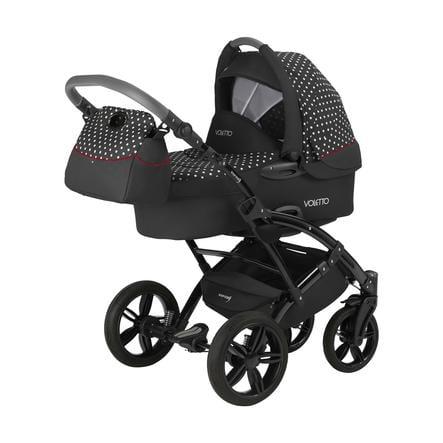 knorr-baby Kombivogn Voletto Tupfen Limited Edition svart-hvit