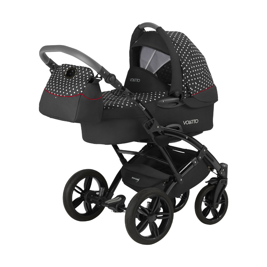 Knorr-baby cochecito Voletto lunares Limited Edition blanco-negro