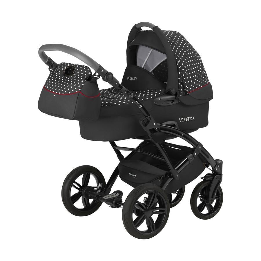 knorr-baby Kombikinderwagen Voletto Tupfen Limited Edition Schwarz-Weiß