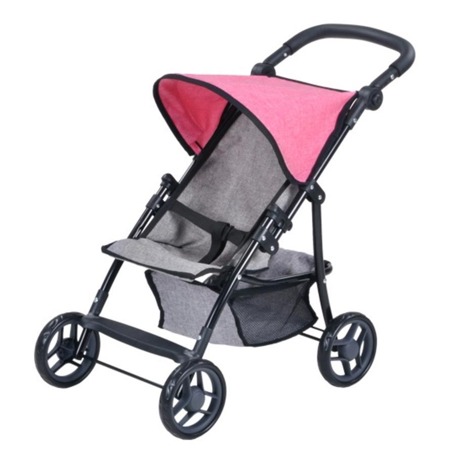 knorr® toys Wózek spacerowy dla lalki Liba - jeans grey