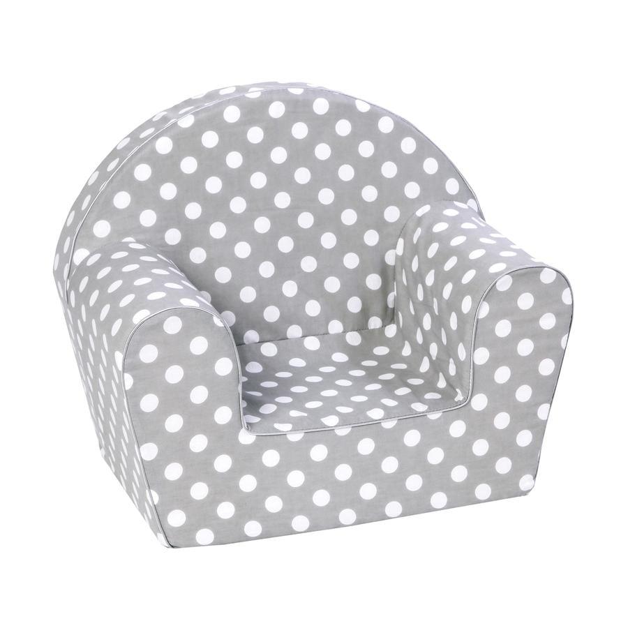 knorr® toys Barnfåtölj - Dots grey