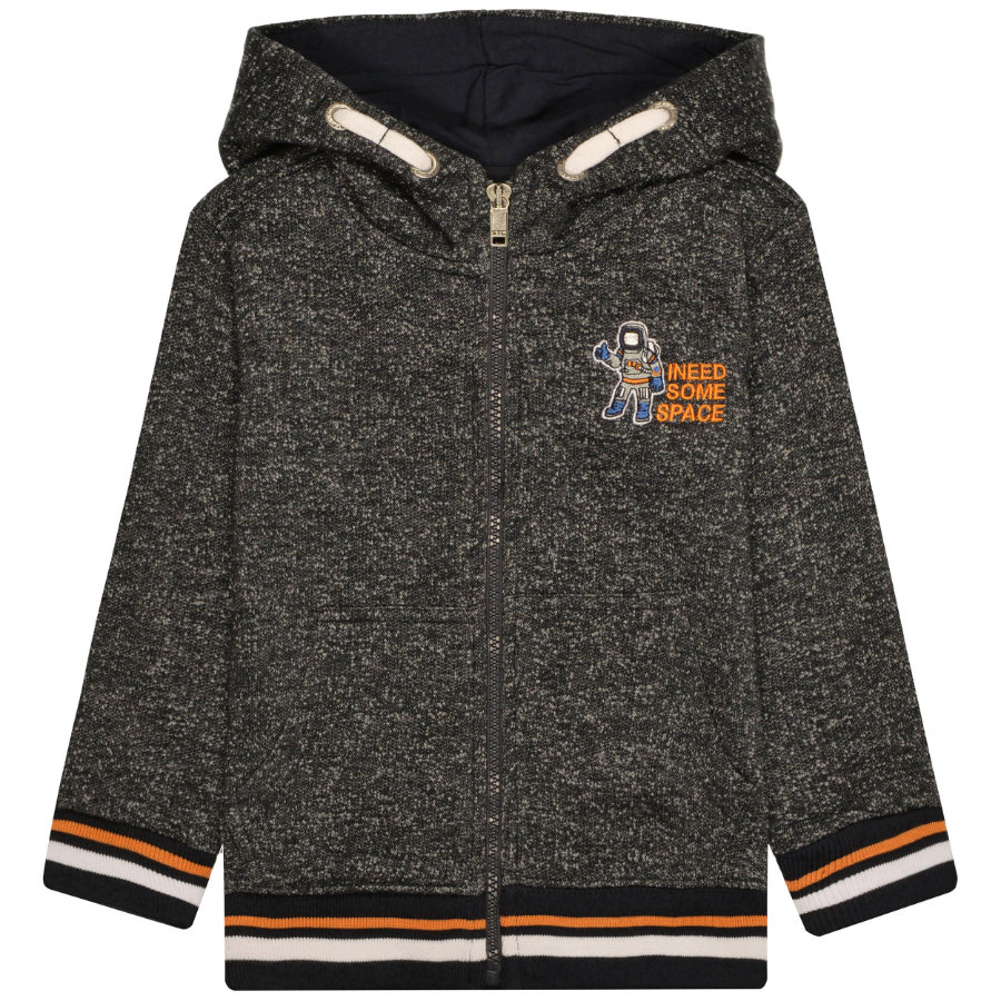 STACCATO Boys Sweatjacke dark tinte structure