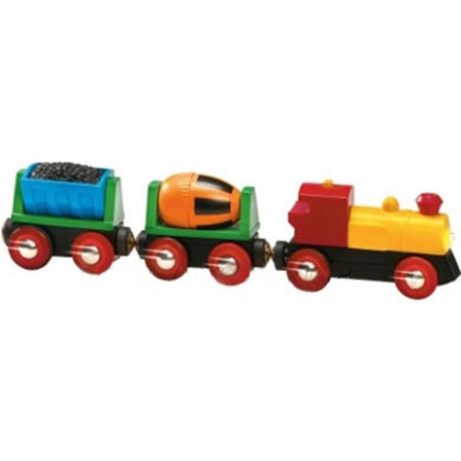 Vlak s lokomotivou na baterii BRIO
