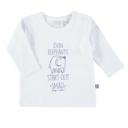 Feetje Girl s Overhemd met lange mouwen Start klein Olifanten wit