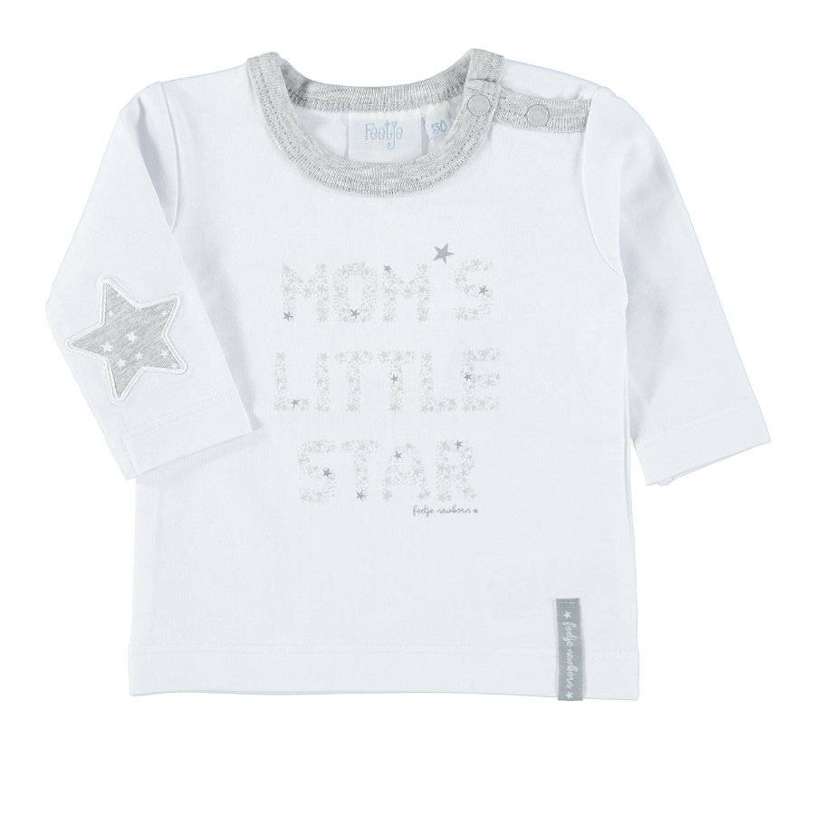 Feetje Girls Langarmshirt start each days bows white
