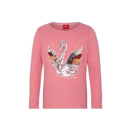 s.Oliver Girls Langarmshirt pink Swan