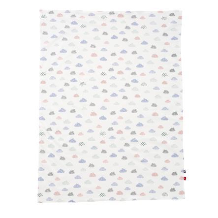 s.Oliver by Alvi Babydecke Jersey, Happy Cloud weiß Exklusiv 75 x 100 cm