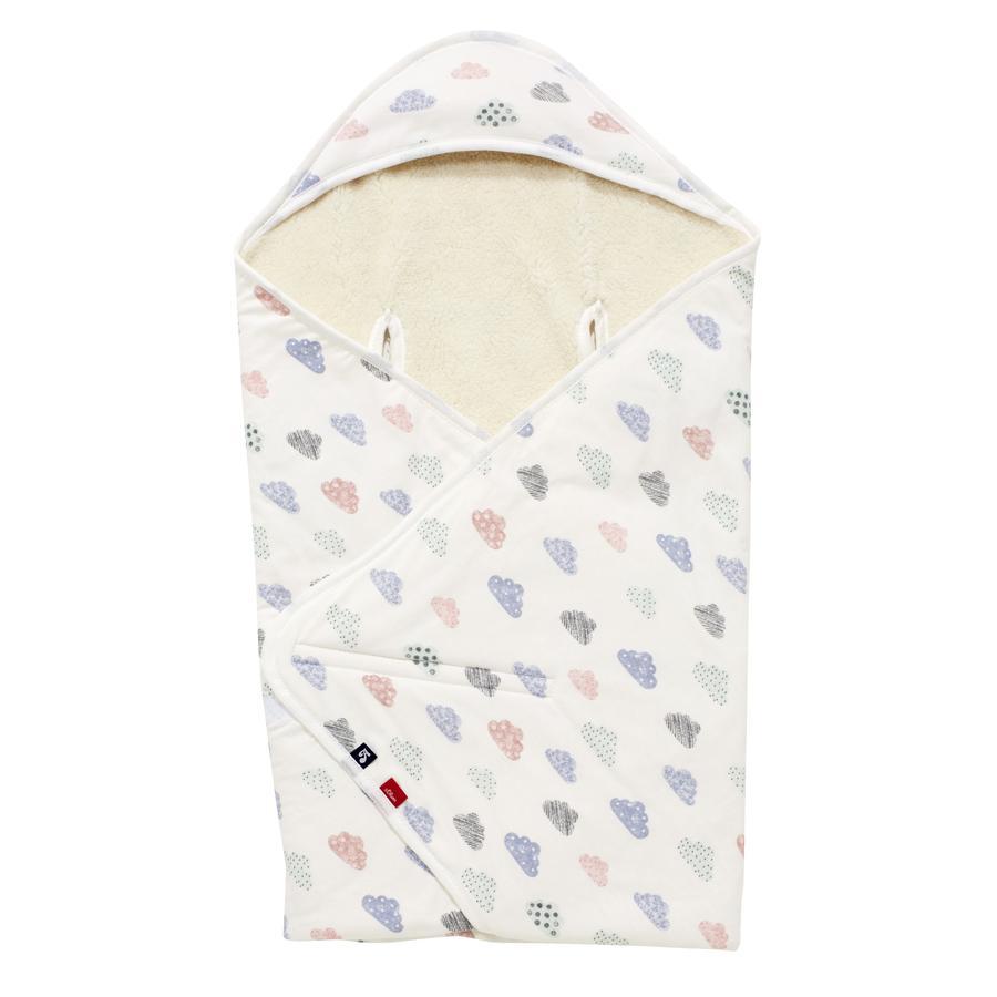 Alvi® Couverture enveloppante happy cloud blanche 80 x 80 cm