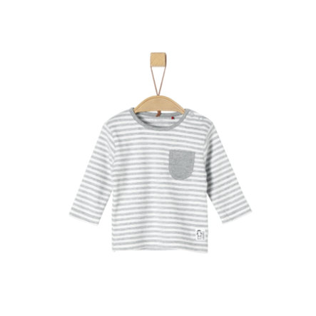s.Oliver Långärmad tröja light grey melange Stripes