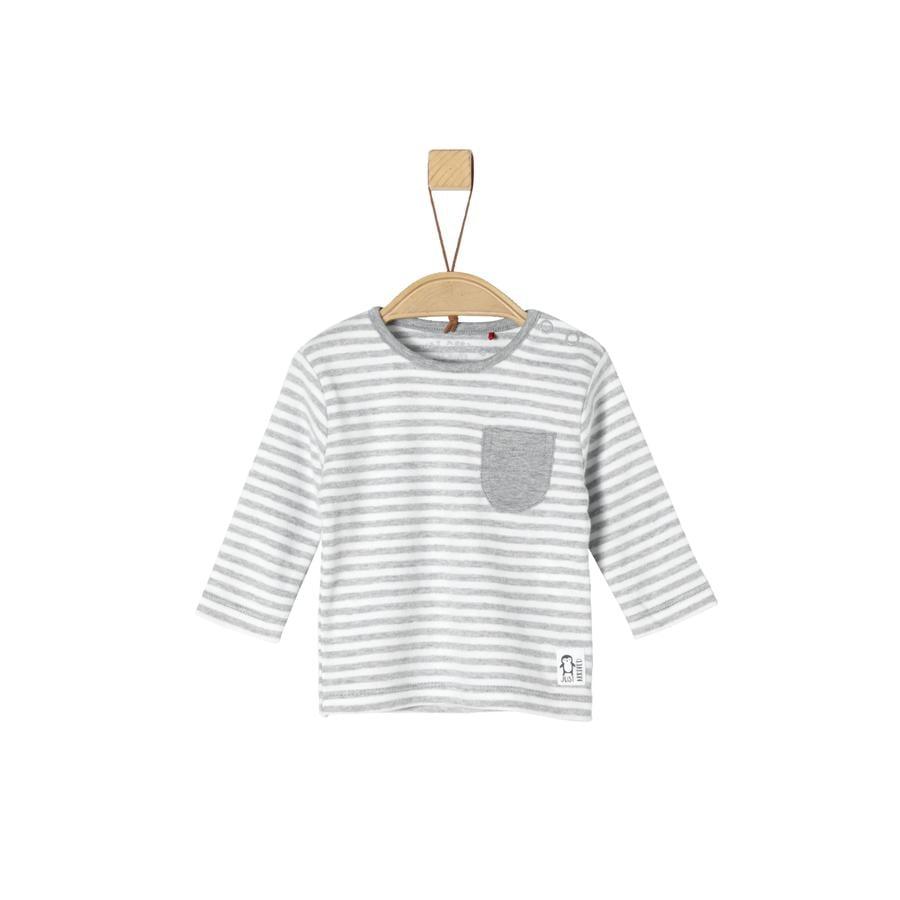 s.Oliver Camisa manga larga gris claro mélange Rayas
