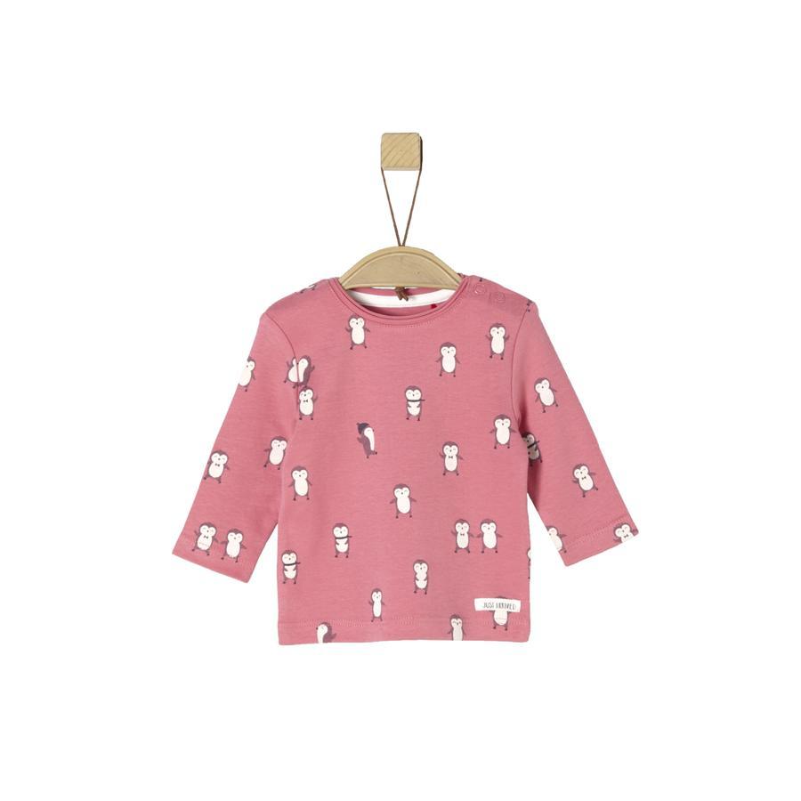 s. Oliver Pitkähihainen paita vaaleanpunainen AOP