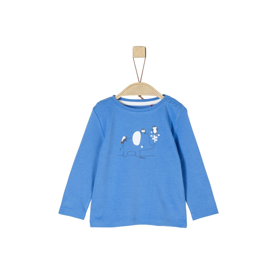 s.Oliver Shirt met lange mouwen blauw