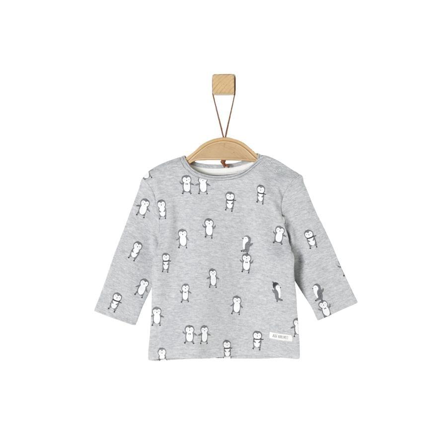 s.Oliver Camisa manga larga gris claro AOP