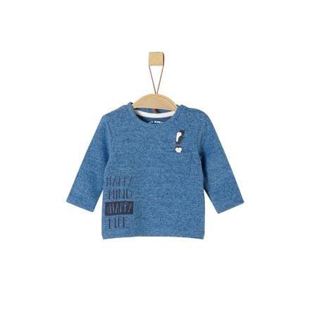 s.Oliver Shirt met lange mouwen blauw melange