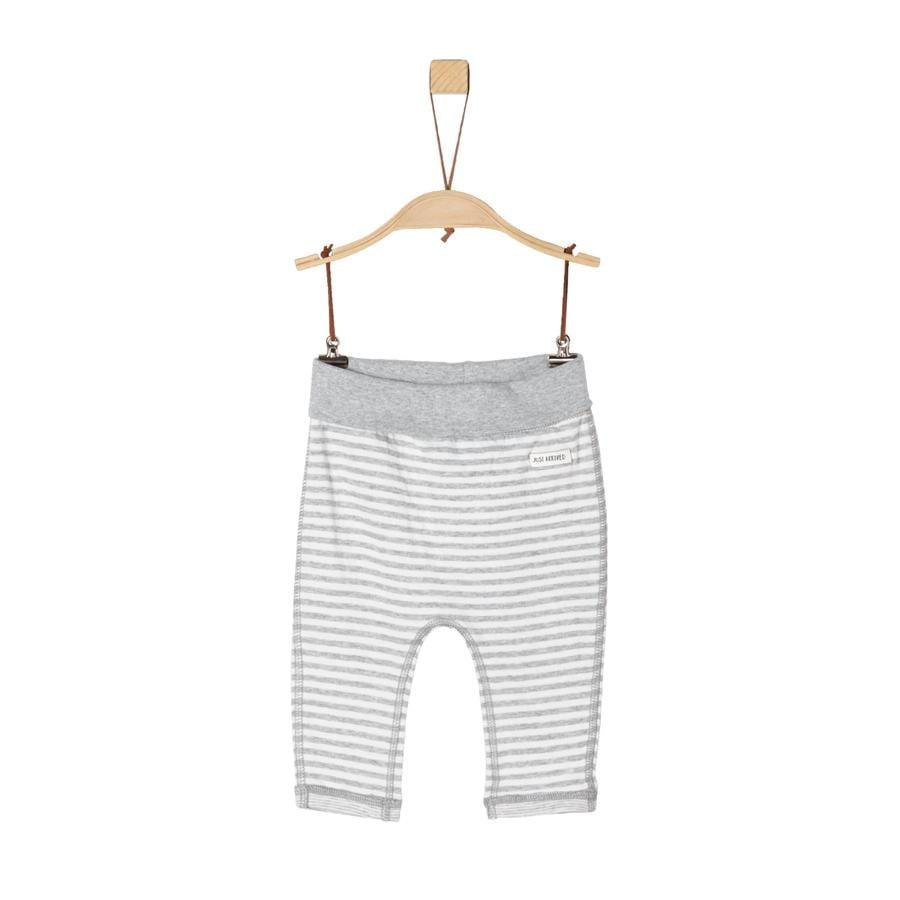 s. Olive r Kalhoty light grey melange stripes