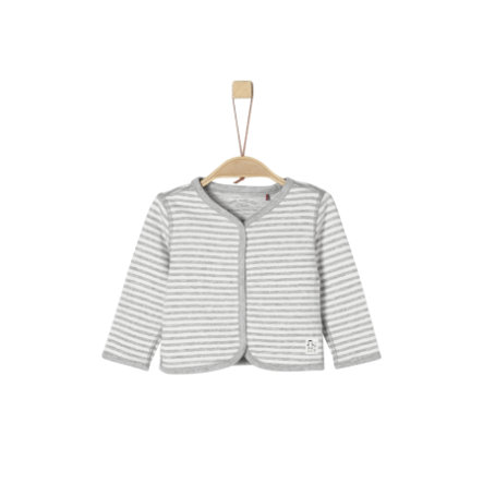 s.Oliver Boys Sweatjacke light grey melange stripes