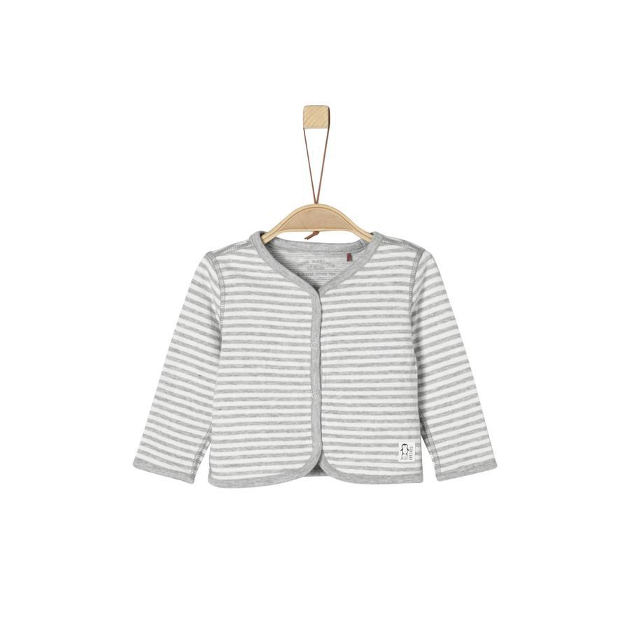 s.Oliver Sweatjacka light grey melange stripes