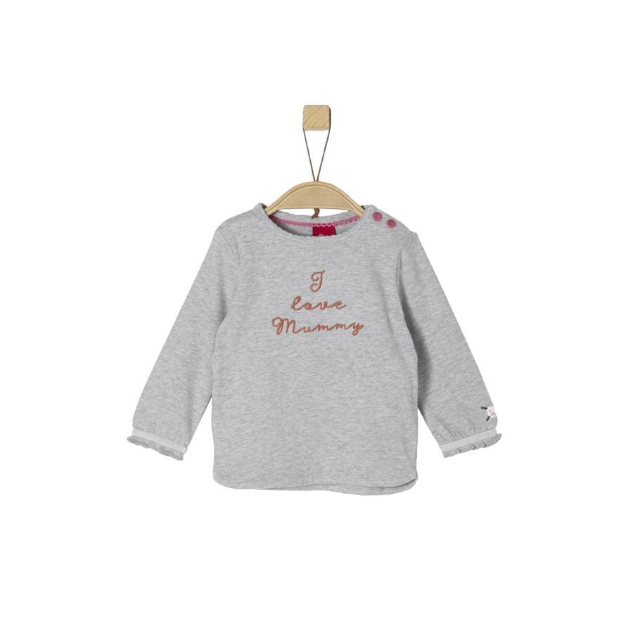 s.Oliver Shirt met lange mouwen lichtgrijs melange