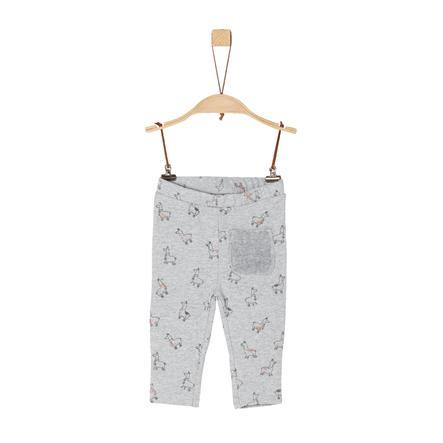 s.Oliver Girl s Pantalon de survêtement gris clair mélangé