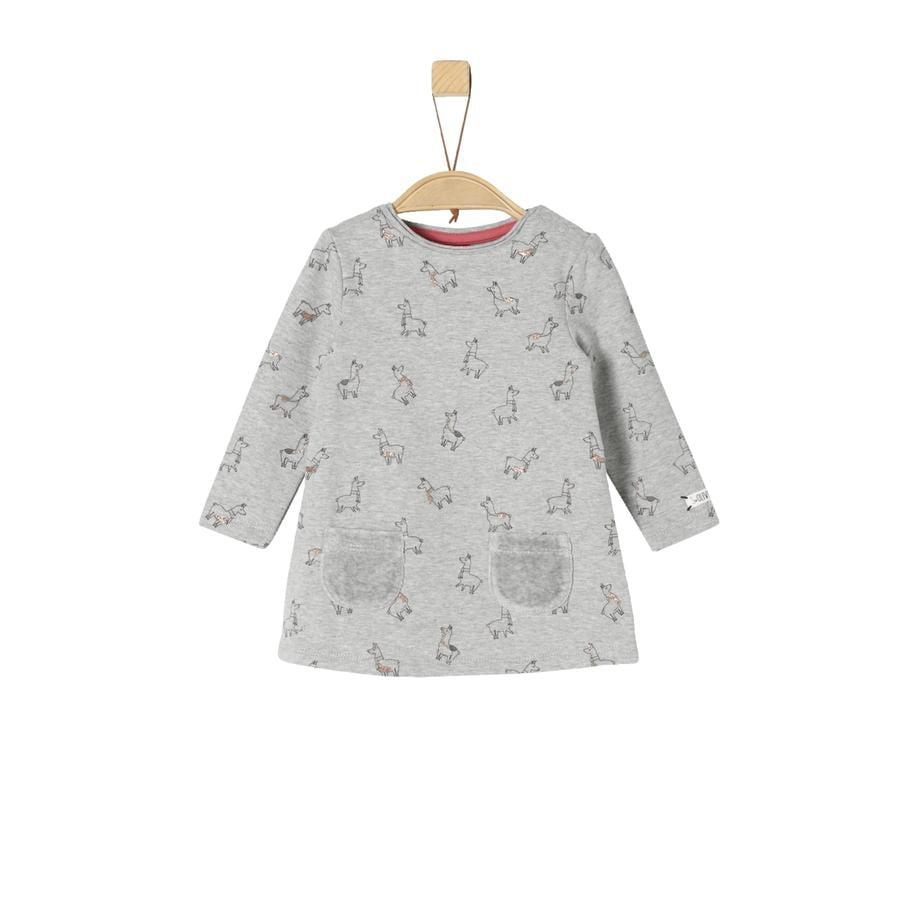 s.Oliver Girl s sukienka jasnoszary melange