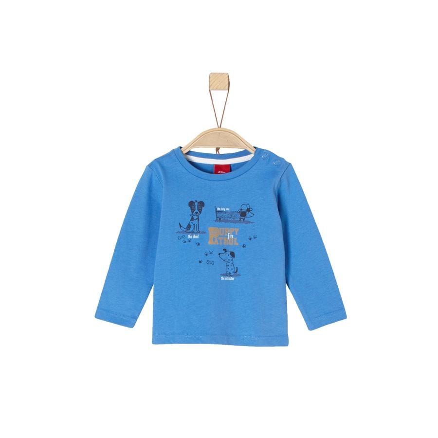 s.Oliver Boys Chemise manches longues bleu chiens