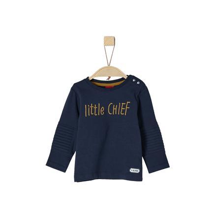 s.Oliver Boys Shirt met lange mouwen donkerblauw