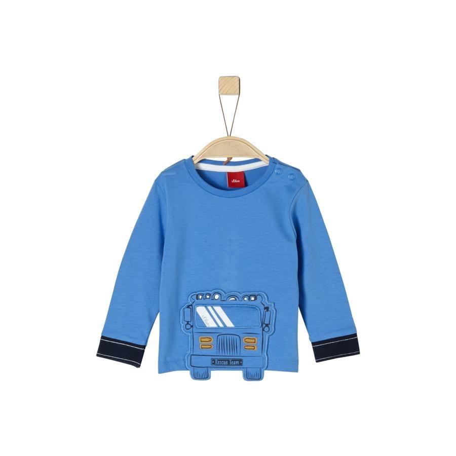 s.Oliver Boys Langarmshirt blue car