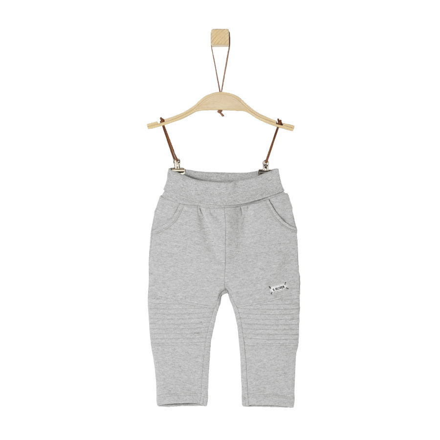 s.Oliver Boys Pantalone felpa grigio chiaro melange