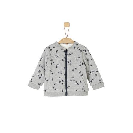 s. Olive r Vendbar jakke til drenge light grå melange