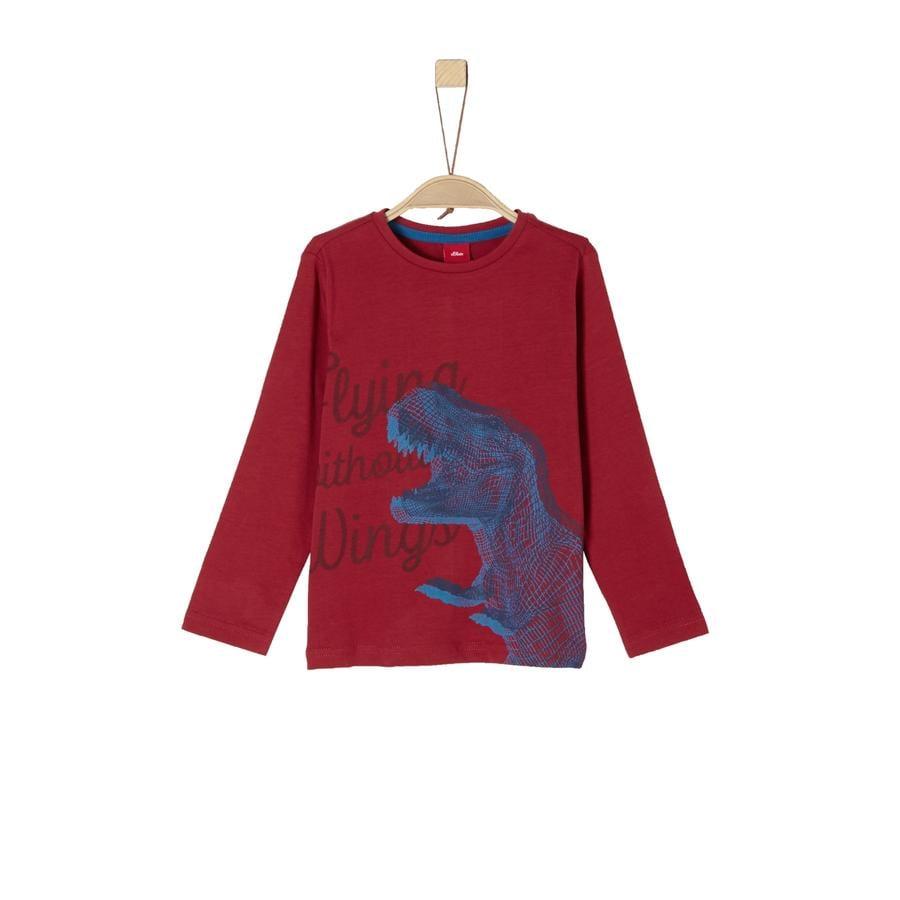s.Oliver Boys Shirt met lange mouwen rood