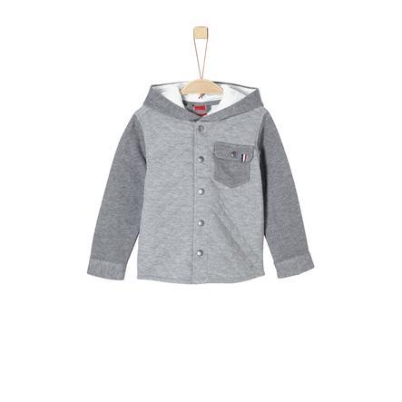 s.Oliver Boys Sweat veste gris mélangé