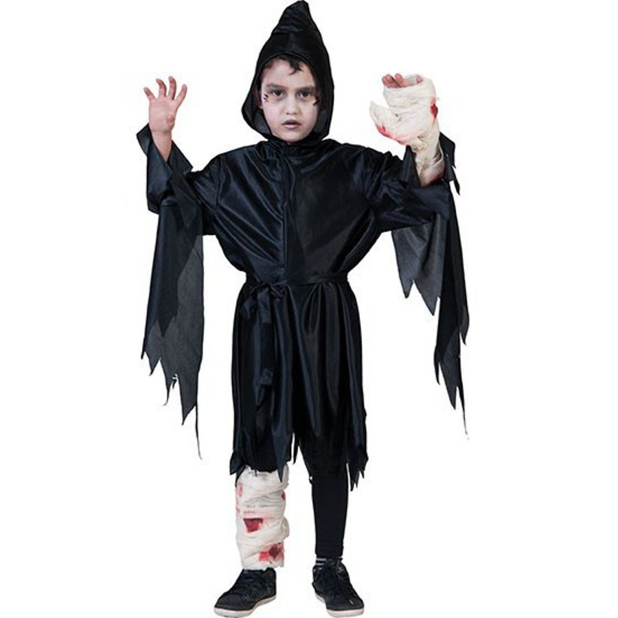 FUNNY FASHION Costume enfant fantôme hurleur noir