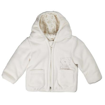 KANZ Baby fleece vestje sneeuwwit
