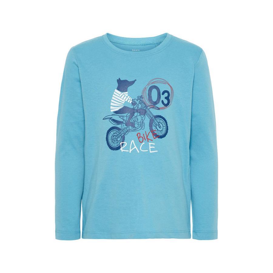 name it Boys Koszula z długim rękawem Nmmvagno delphinium blue