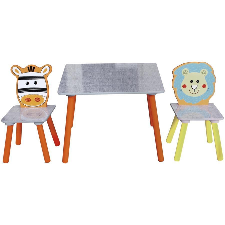 bieco safari set tisch und zwei st hle. Black Bedroom Furniture Sets. Home Design Ideas