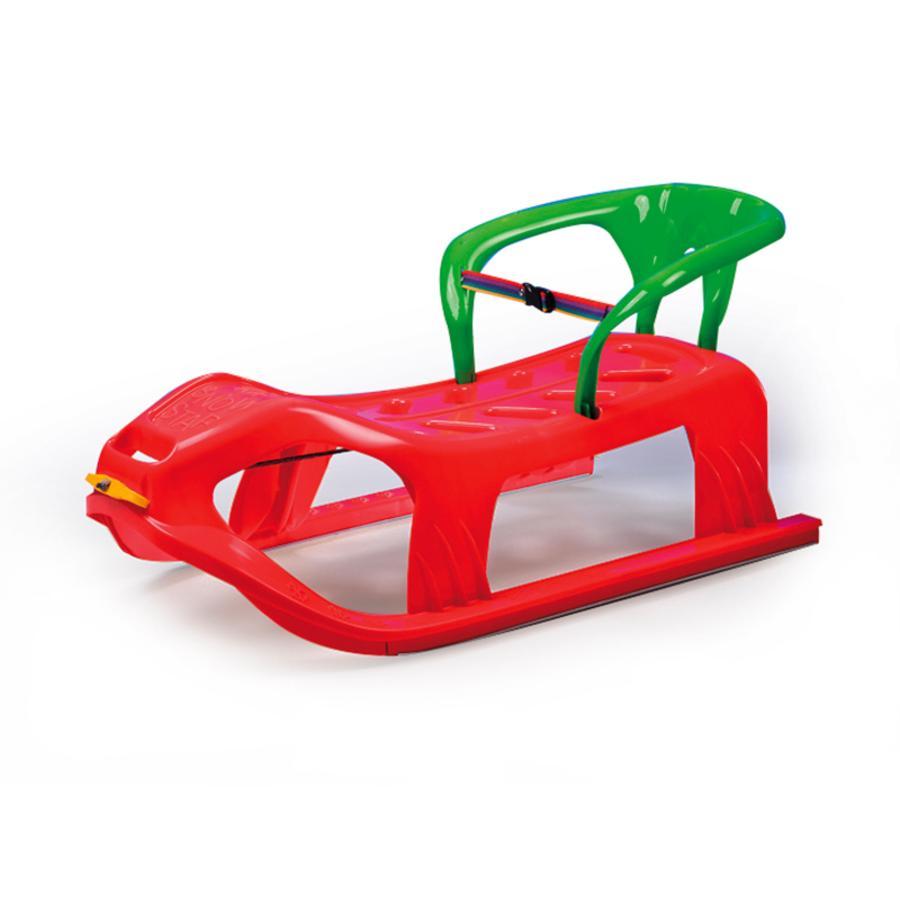JAMARA Snow Play sáňky s opěradlem Snow-Star 90 cm červené