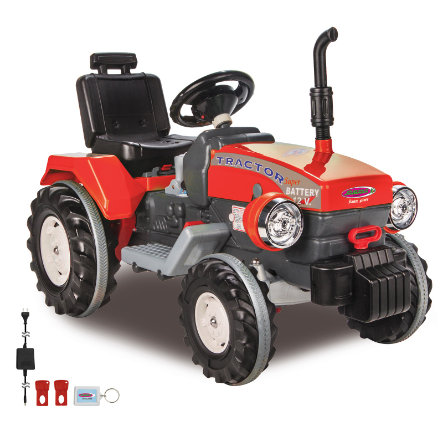 JAMARA Ride-on Trattore Power Drag, rosso 12V