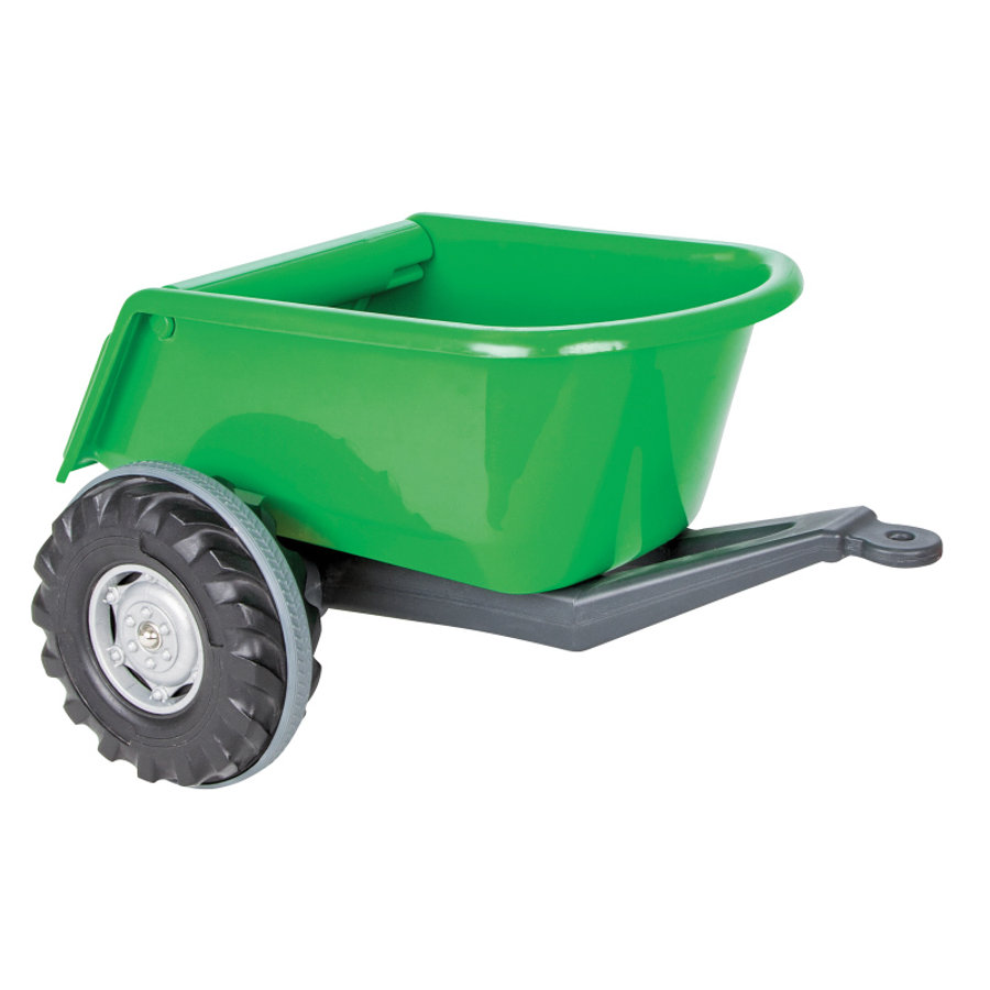 JAMARA Remolque Ride-on verde para tractor Power Drag