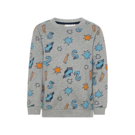 name it Boys Sweatshirt Nmmolsonas grey melange