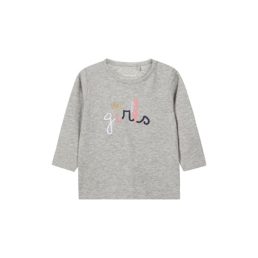 name it Girl s Overhemd met lange mouwen Nbfosla grijs melange
