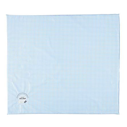 JULIUS ZÖLLNER Cambio tappetino tappetino piatto Vichy blu 75 x 85 x 85 x 2 cm