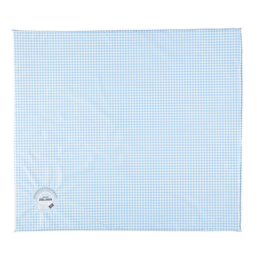 JULIUS ZÖLLNER Wickelauflage flach Folie Vichy blau 75 x 85 x 2 cm