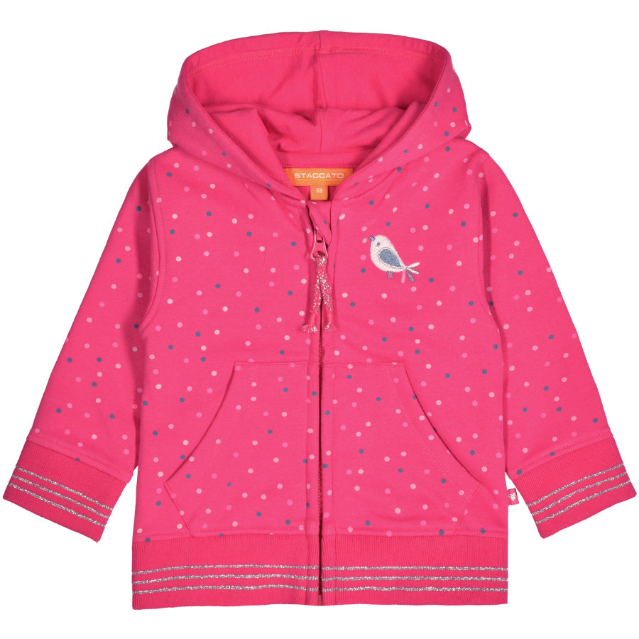 STACCATO Girl s Sweat jacket rasperry wzór rasperry