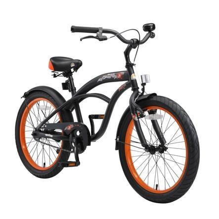 "bikestar Premium Bicicleta de seguridad para niños 20"" Cruiser negro mate"