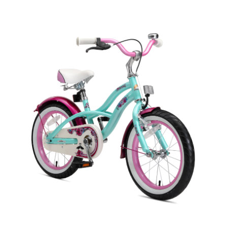 """bikestar Premium Safety Child Bike 16 """"Cruiser Mint"""