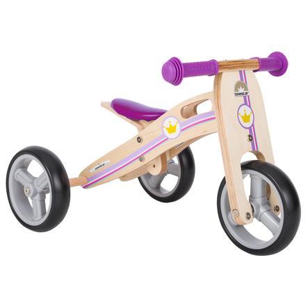 """bikestar Potkupyörä 2 in 1 Mini 7"""" puinen violetti"""