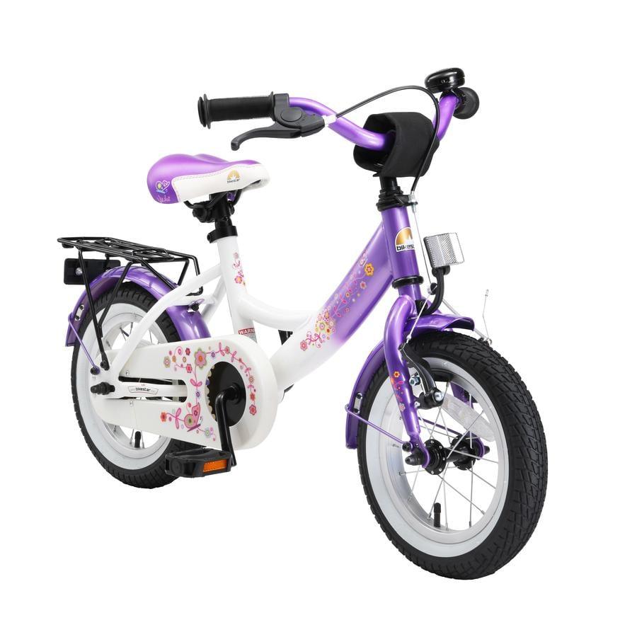 """bikestar Premium Kinderfahrrad 12"""" Lila Weiß"""